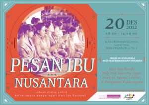 [DIALOG PUBLIK] Pesan Ibu Nusantara