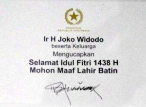 Kartu Lebaran dari Jokowi